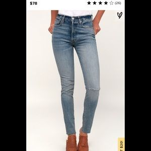 Free People Stella Medium Wash High Waist Jeans